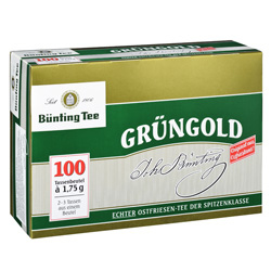 Bünting Grüngold Tassenbeutel 100 x 1.75 g