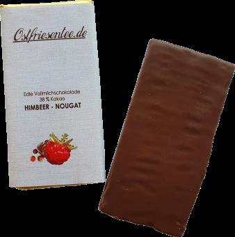 Himbeer-Nougat Schokolade
