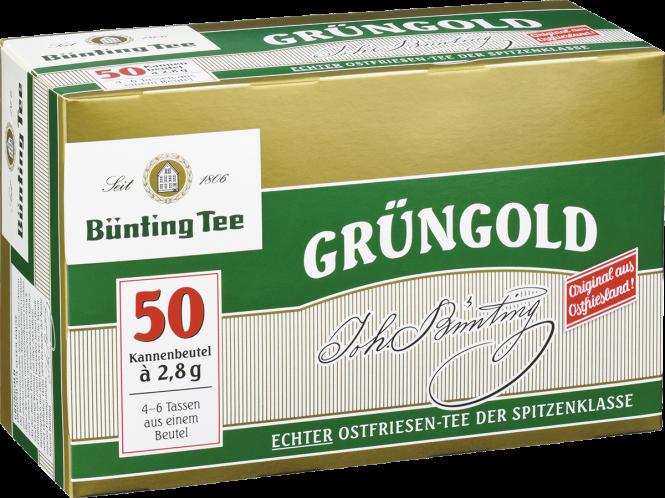 Bünting Grüngold Kannenbeutel 50 x 2.8 g