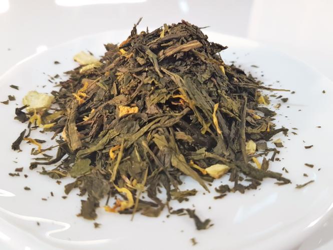 "Grüner Tee ""Blutorange"""