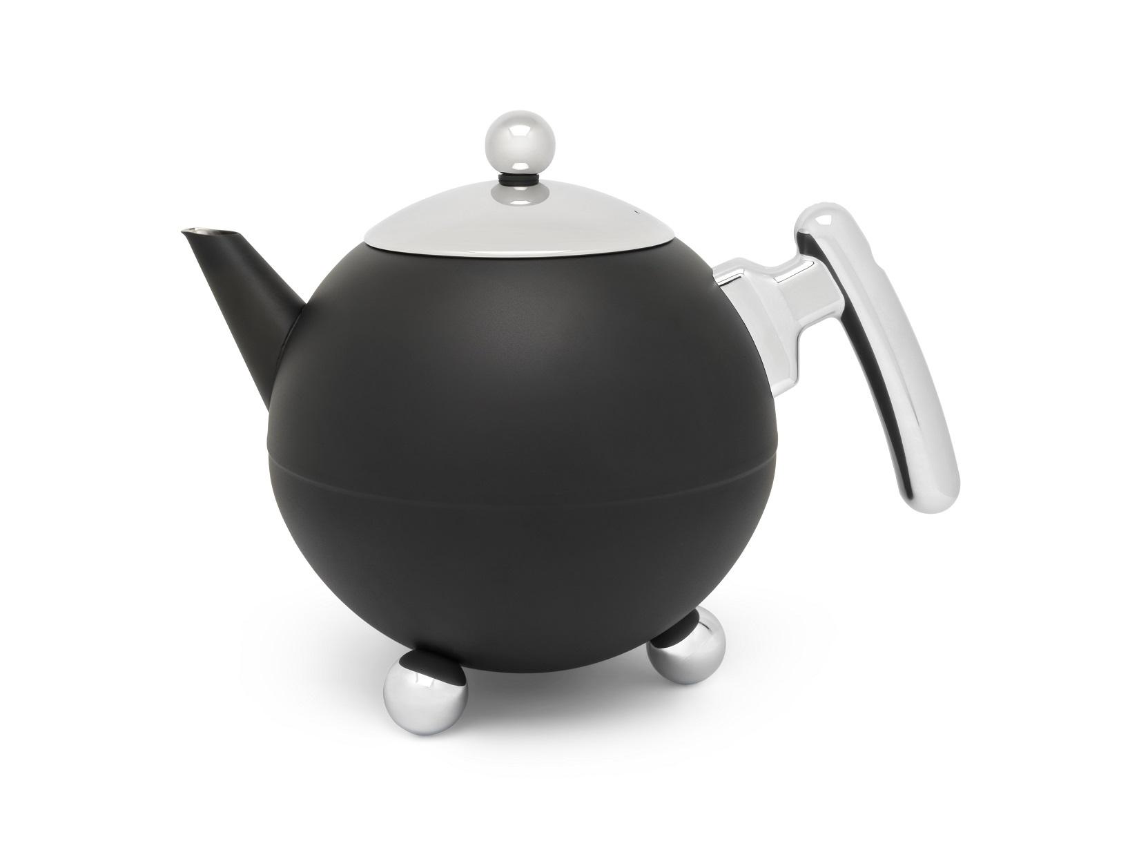 Teekanne Bella Ronde schwarz Bredemeijer 1,2L.