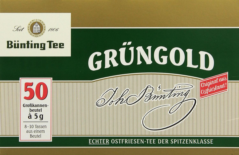 Bünting Grüngold Großkannenbeutel 50 x 5 g