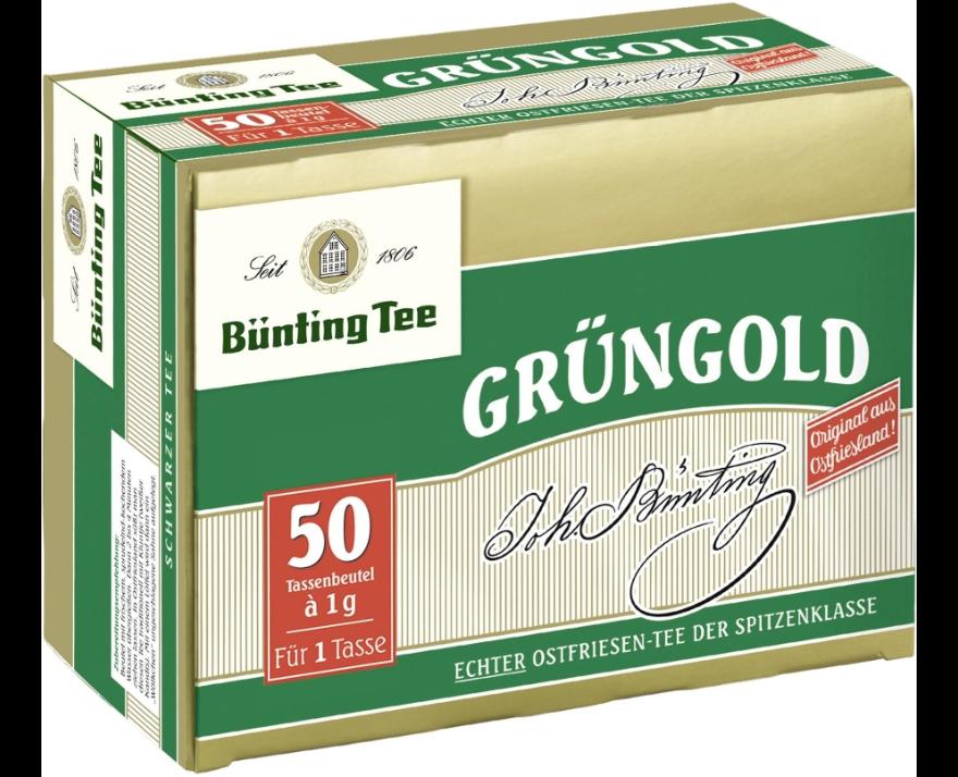 Bünting Grüngold Tassenbeutel 50 x 1g