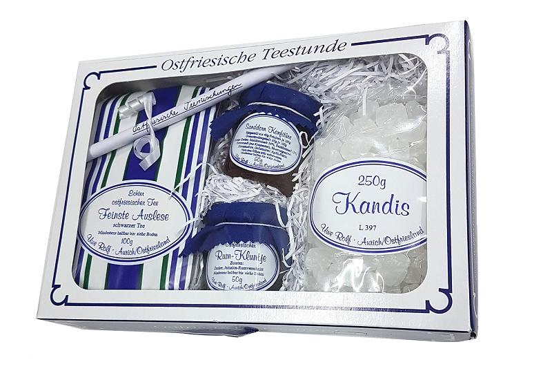 Geschenkset 13 Tee/Kandis/Kluntje/Konfitüre