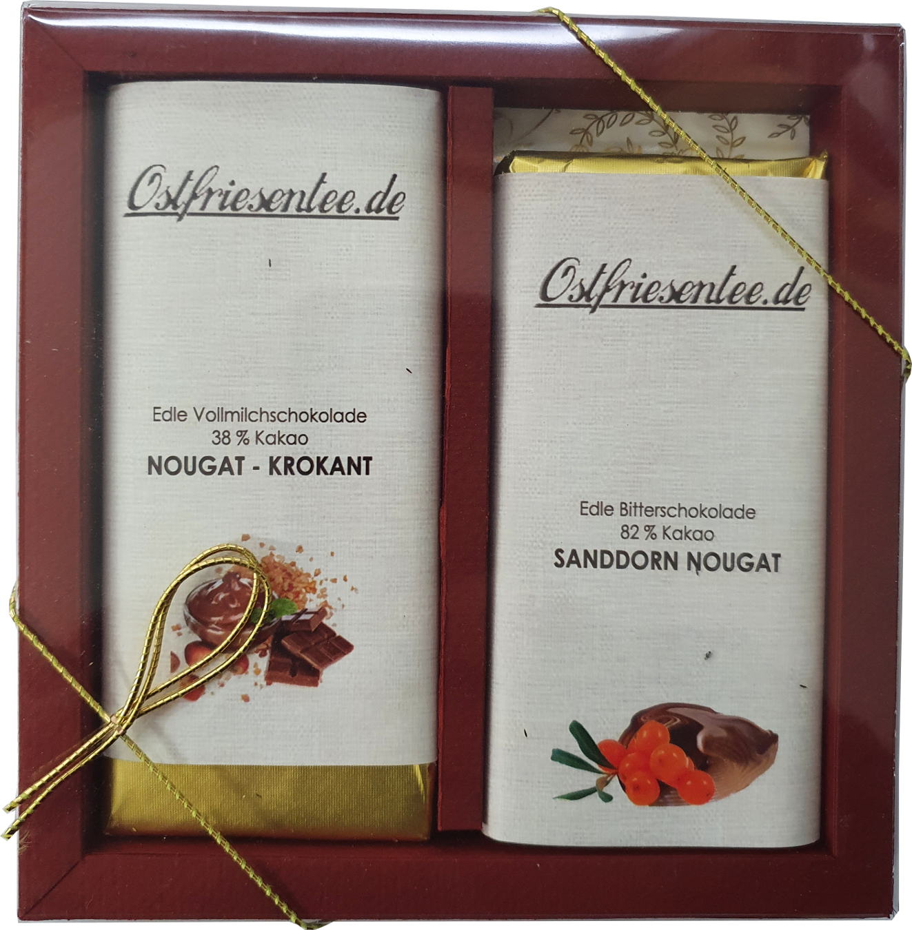 Geschenkset Schokolade - Nougat & Krokant