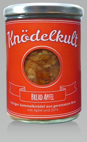Knödel Bread Apfel im Glas