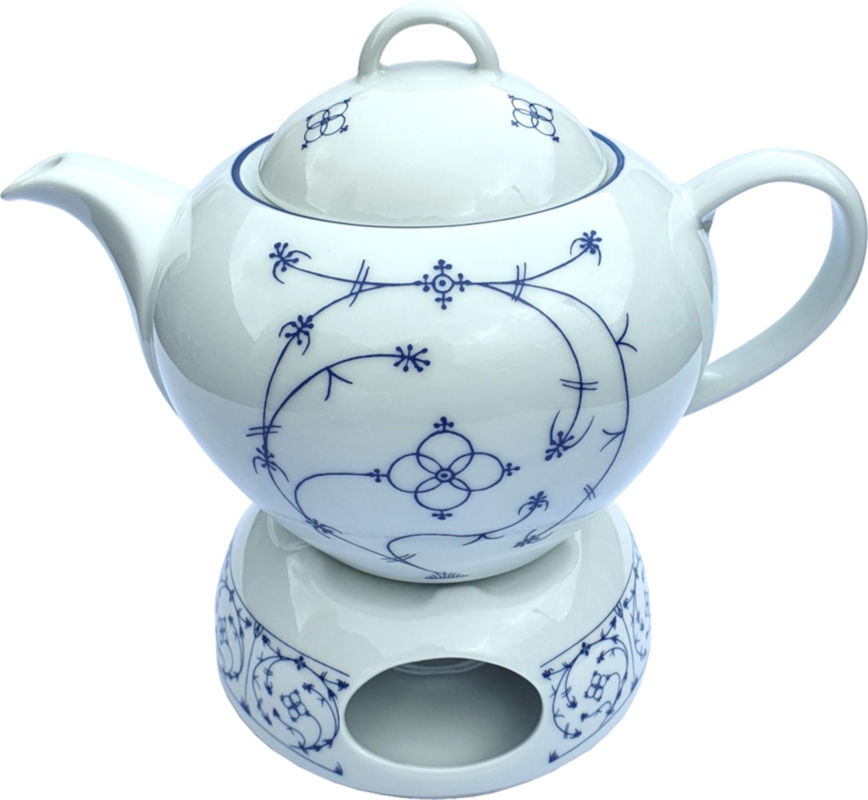 Teekanne Indisch Blau